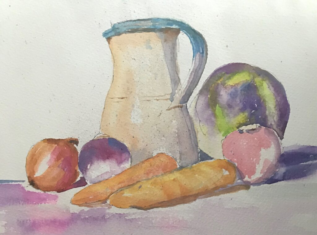 Jug and Veg by Gina King