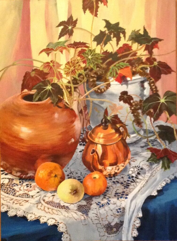 Still life with fruit by Doreen Gregson