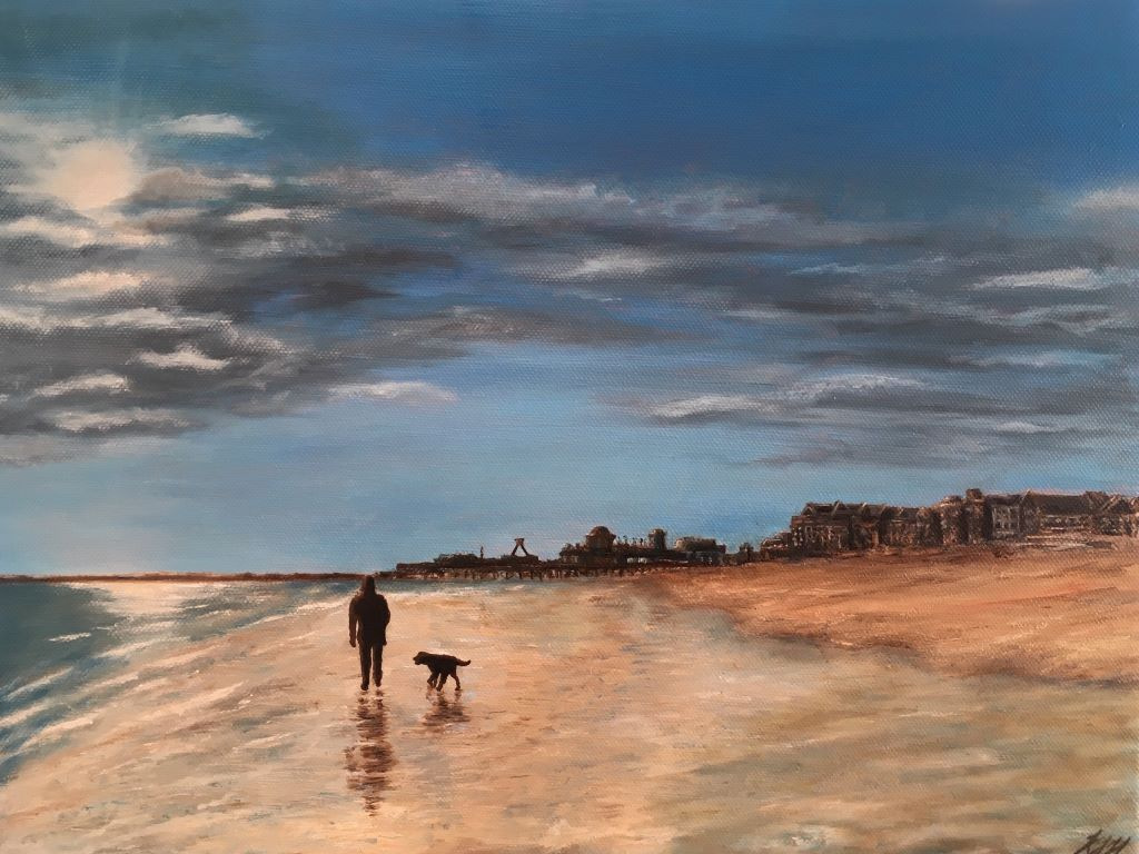 Southsea Winter's Walk by Karen Hammond