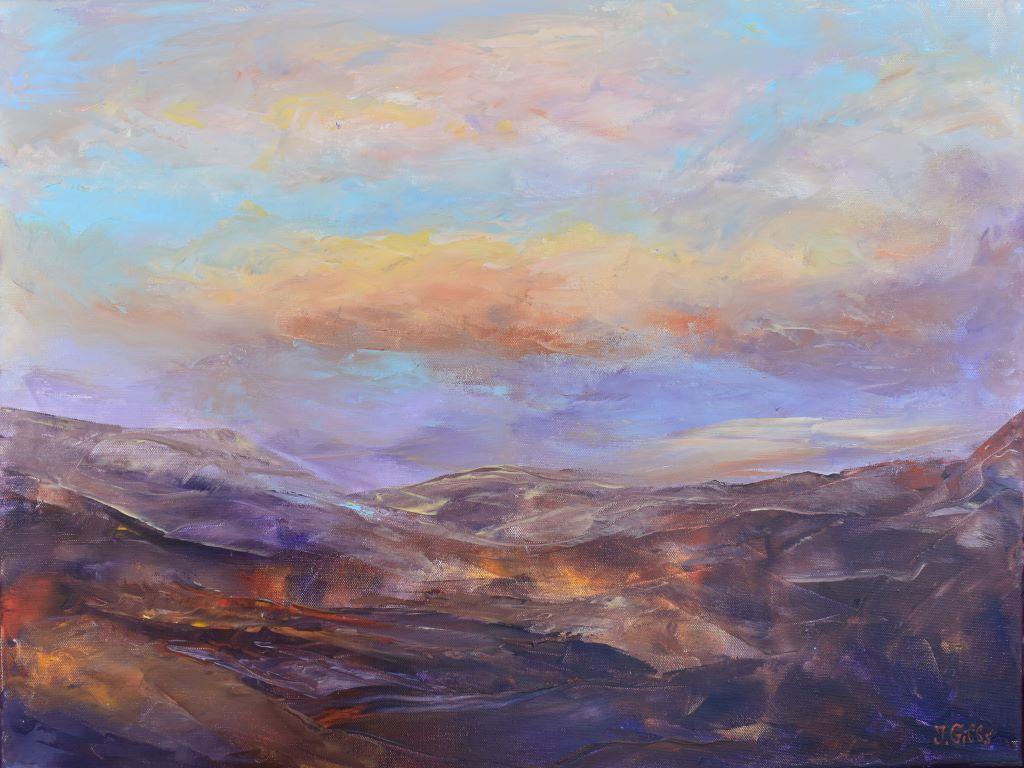 Abstract landscape 1 by Jenny Gibbs