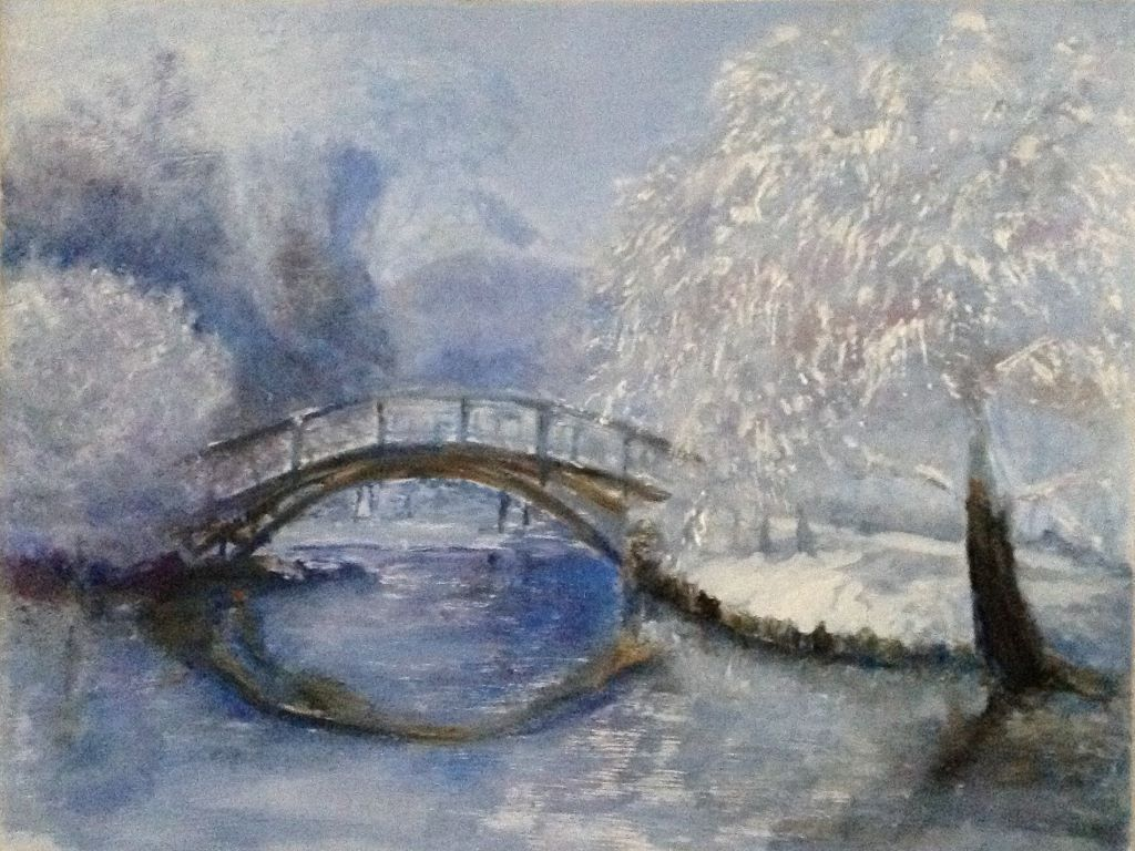 Bridge on a cold frosty day by Iris Leech