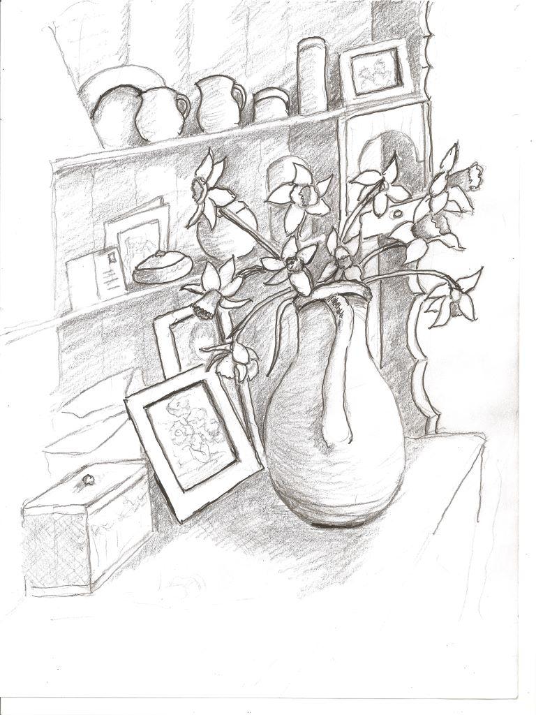 Daffodils on the dresser by Helen McCarthy