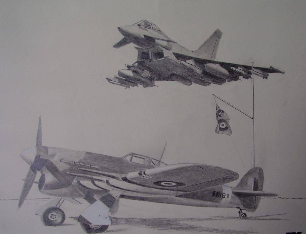 "Eurofighter ""Typhoon"" and a WW2 Hawker ""Typhoon"""