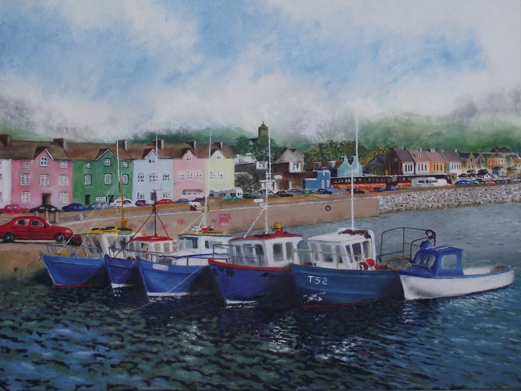 Harbour Scene, Dawlish by Joe Coburn