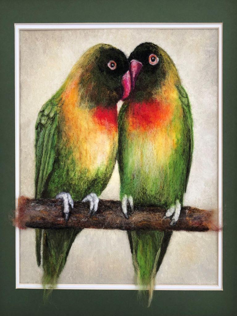 Lovebirds by Marguerite Cooper