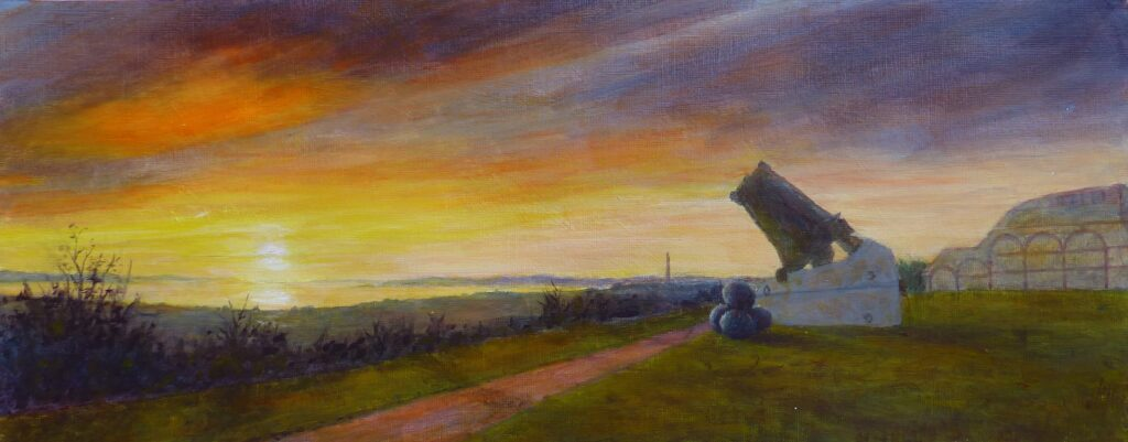 Marchwood chimney from Fort Nelson by B Humphreys