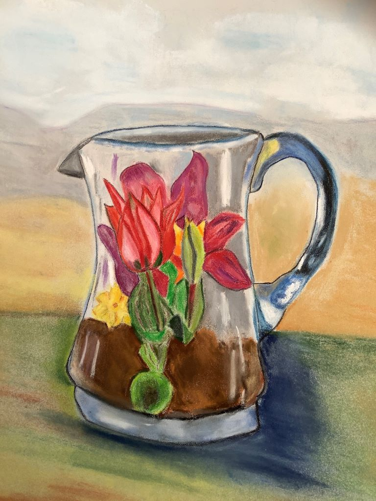 New Growth in Granny's Old Glass Jug by Barbara Wright
