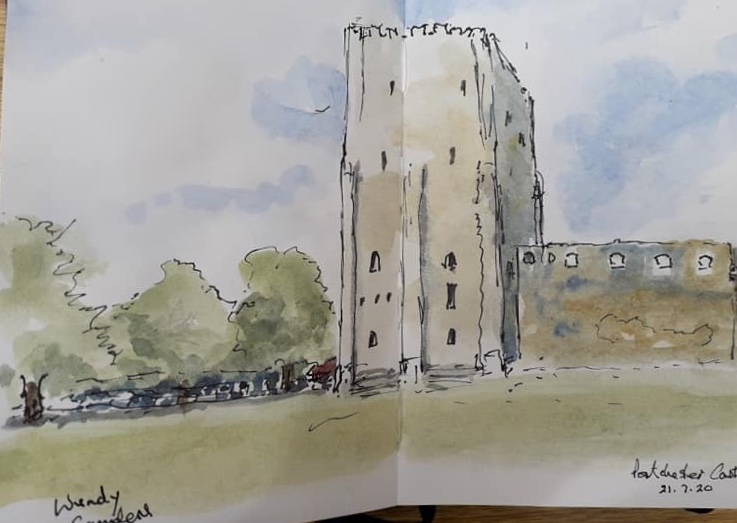 Portchester castle 2 by Wendy Saunders