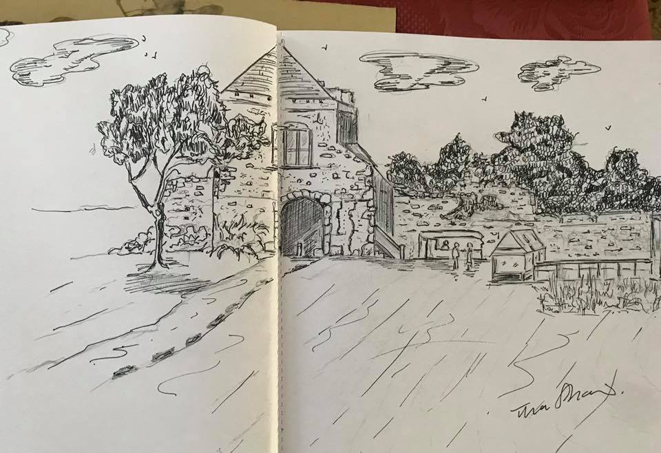 Portchester castle by Tina Shaw