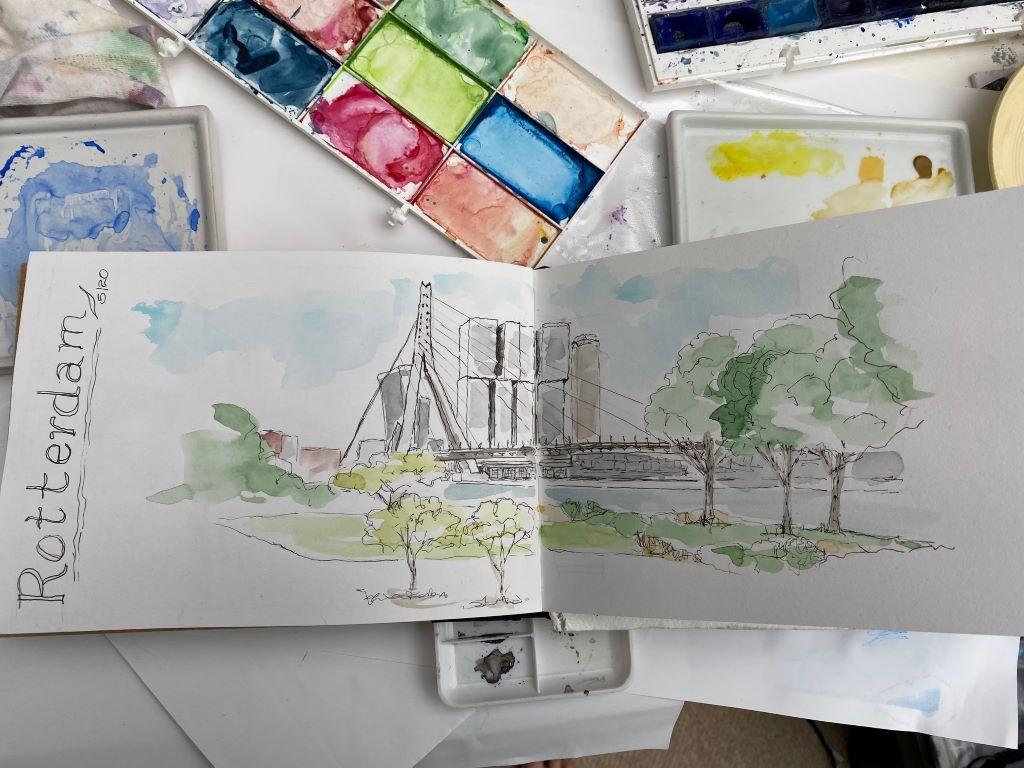 Sketch of Rotterdam by Susan Barton
