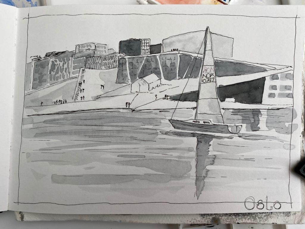 Sketch of Oslo by Susan Barton