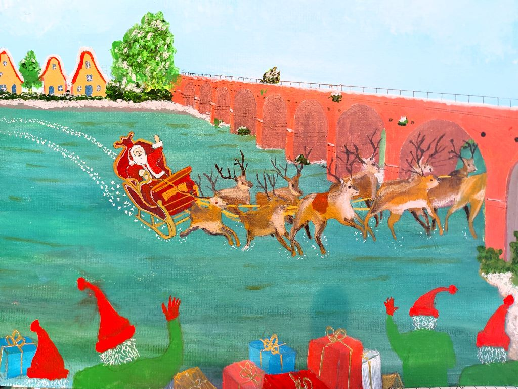 Santa at the Delme by Barry Haines
