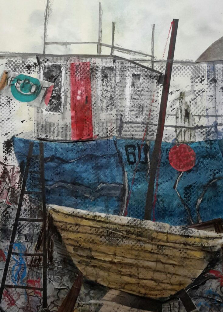 The Boatyard by Janet Aughey
