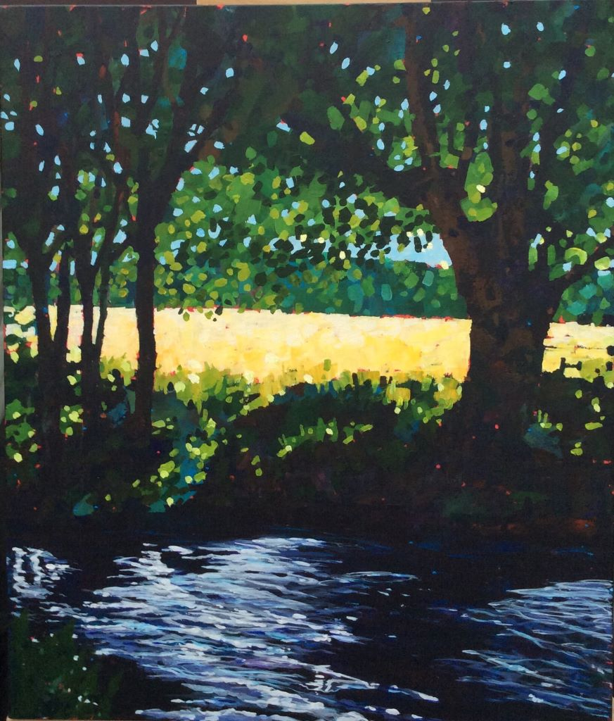 The Meon Near Titchfield by Mark Davies