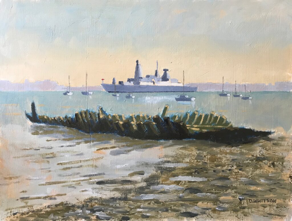 Then and now, Portsmouth Harbour by David Whitson