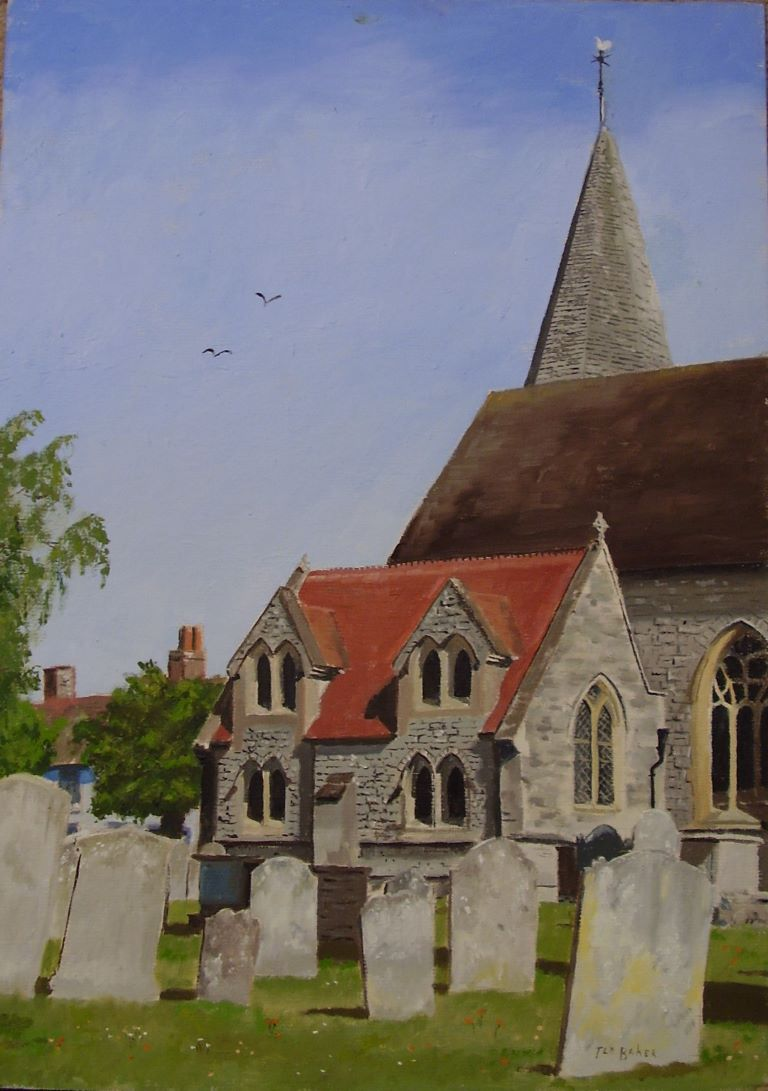 Titchfield Church by Edward Baker