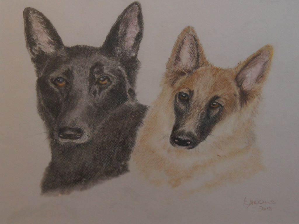 Two Dogs by Elaine Higgins