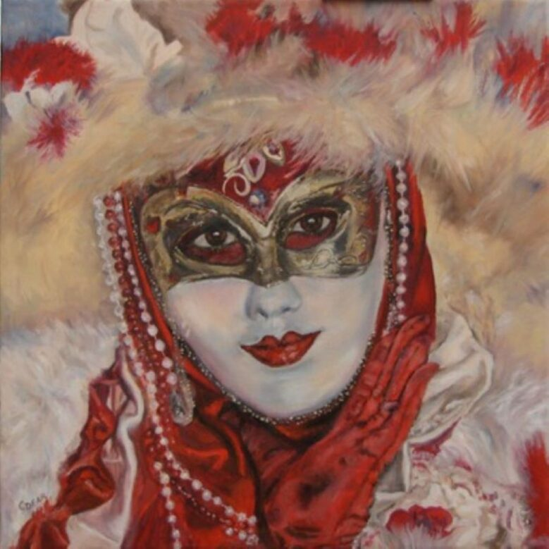 Venetian Mask I by C Dear