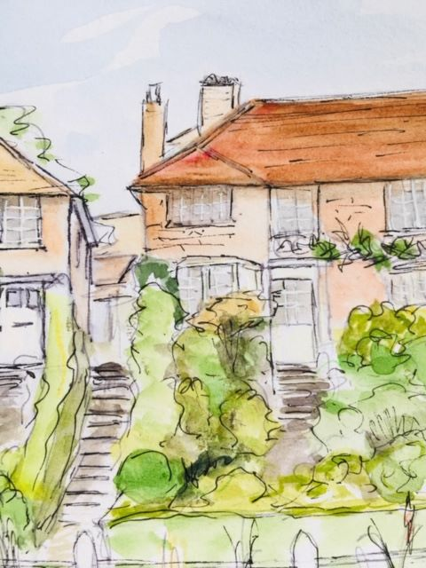sketch of a house